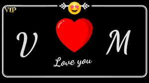 V M Name letter Whatsapp status video M ...