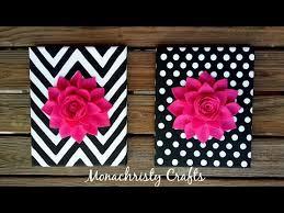 diy 3d flower canvas art easy wall