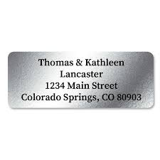 silver address label silver foil address labels current catalog
