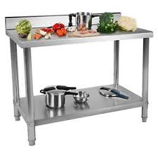Table De Travail Adossee Plan Travail Etagere Professionnel Cuisines