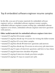 top8embeddedsoftwareengineerresumesamples 150514014121 lva1 app6891 thumbnail 4 jpg cb 1431567724