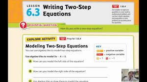 lesson 6 3 writing two step equations you lesson 3 problem solving practice write two step equations answers