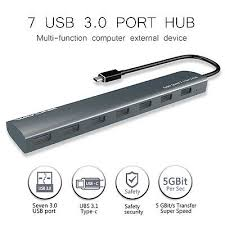Wavlink <b>7 Port USB 3.0</b> Hub,Aluminum USB Hub Designed 5V 4A ...