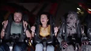actor in busch gardens howl o scream commercial projectile vomits on sheikra and it s no act