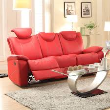red leather reclining sofa. Livingroom:Red Leather Power Reclining Sofa Recliner Seater Corner Electric Sectional Browning Bluff Small Couch Red O