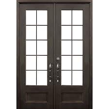 Shop FLORIDA IRON DOORS 2-Panel Insulating Core 3/4 Lite Right ...