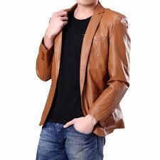 mildy men leather blazers