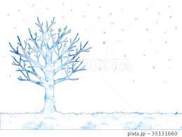 冬の木とトナカイのイラスト : ** アトリエ Chica **
