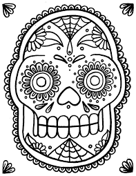 Small Picture 219 best Printable Sugar Skulls Coloring images on Pinterest