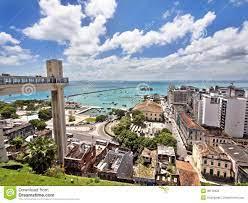 Das Elevador Lacerda, Der Alle Heilig-Bucht In Salvador, Brasilien  übersieht Stockfoto - Bild von ozean, cityscape: 38120922