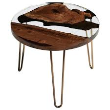 Our round coffee table provides an ideal spot to place your books, magazines, or fresh flowers upon with an urban industrial look. Hudson 60 Round Clear Epoxy Resin Coffee Table With Brass Finish Hairpin Legs For Sale At 1stdibs