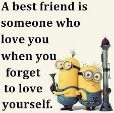 Best Friend Love Quotes Interesting Best Friend Minion Love Quote Pictures Photos And Images For