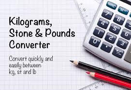 Weight Chart Pounds To Kilograms Kilograms To Stones And Pounds Converter