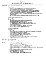 Media Broadcasting Resume Broadcast Producer Resume Samples Velvet Jobs 21