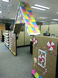 christmas office decor. Cubicle Christmas Decorations Gingerbread House Simple Office For Diy Decor I