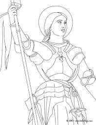 JOAN OF ARC the Maid of Orléans coloring page | Little Flowers ...