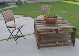 creative patio furniture. 74DIY Pallet Table 1024x731 16 DIY Creative Outdoor Furniture Patio N
