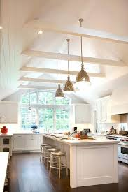 lighting for beams. Vaulted Ceiling With Exposed Beams Lighting Kitchen Traditional Cup Pulls Inset For