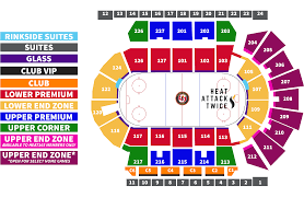 Penguins Seating Chart With Rows Predators Arena Seating