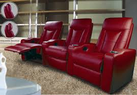 red theater chairs. Red Leather Home Theater Seating Power Recliners Faux Loveseat Yuan Tai Ventura Bicast Sectional Striking Design Chairs