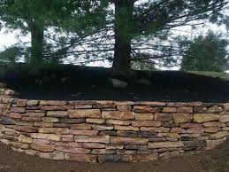 earth rainbow natural stone retaining wall