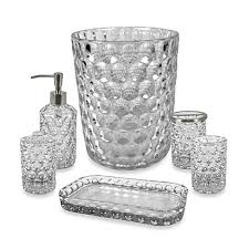 clear glass bathroom accessories. crystal ball glass bathroom accessories in clear a