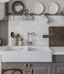 fireclay farmhouse sink. (Image Credit: Lovely Life). DOMSJÖ Double Bowl Apron Front Sink Fireclay Farmhouse A