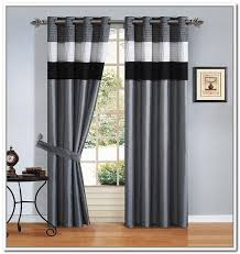 Fine Black And White Curtains Living Room How To E Inside Design Ideas
