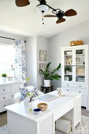 white airy home office. home office decor this room went from dining to so pretty white airy i