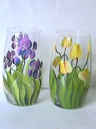 painting glass vases flower vase glass painting designs inspirational best ideas about painted glass vases on