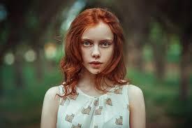 Tapety Tvář ženy Venku Ryšavý Model Portrét Dlouhé Vlasy