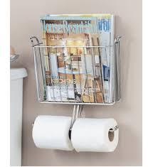 Chrome Toilet Paper Holder Magazine Rack Magazine and Toilet Paper Holder in Bathroom Magazine Racks 1