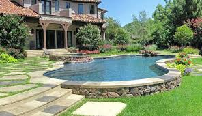 Backyard Pool Designs Landscaping Pools Delectable Partial Inground Pool Semi Pools Pictures Semi Inground Pool