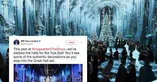 Yule Ball Decorations The 'Hogwarts In The Snow' Celebration Looks Like It's Even More 70