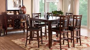 dining room chairs counter height. riverdale cherry 5 pc square counter height dining room chairs b