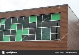 architectural windows in diffe colored glass photo by nadine123