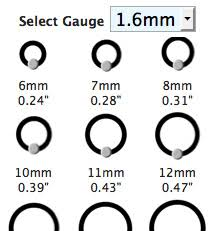 Body Piercing Conversion Chart How To Measure Jewellery Archives Body Jewellery Shop Blog