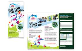 Leaflet On Word Youth Soccer Tri Fold Brochure Template Word Publisher