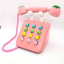 Điện thoại bàn bằng gỗ - Cửa hàng cho Mẹ và Bé Happy Kids' Store - 113 Xuân  Đỉnh