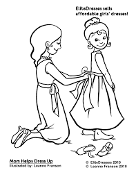 Small Picture First Communion Dress Coloring Pages Free and Printable