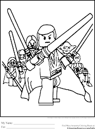 Small Picture Lego Star Wars Coloring Page Jedi Coloring Pages Pinterest