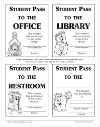 High School Hall Pass Template School Pass Template Bathroom