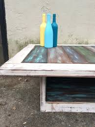 ... Beach House Coffee Table Plank Table Rustic Decor Beach House Decor  Painted Furniture Distressed Furniture Ombre