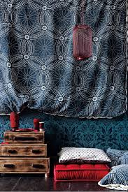 decor red blue room full: anthropologie home decor blue wallpaper red floor cushion boho eclectic