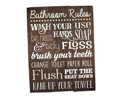 bathroom rules for kids.  Rules Bathroom Rules Sign Rustic Kids Art  Intended For R