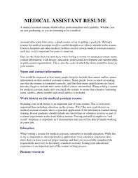 Resume Examples Medical Office Assistant Format Skills Sample No