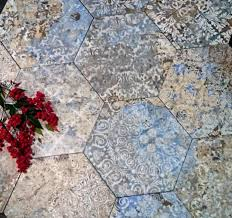 hexagon tiles sydney bathroom