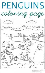 A Waddle Of Penguins Coloring Page