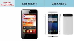 Karbonn A4+ - ZTE Grand S, compare ...