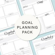 Goal Planning Pack Printable Planners For Your Business Includes Monthly Tracker Quarterly Review Quarterly Planner